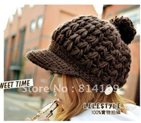 berret hats - Trendy French Special Knitting Berets Hats Winter Warm Hot rasberry Berret Fashion peaked cap