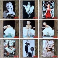 Wholesale cm Metal Tin Sign marilyn monroe Retro vintage Classic Tin Bar pub home Wall Decor Retro Tin Poster