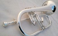 Wholesale American Bach flugelhorn silver plated B flat Bb professional trumpet Top musical instruments in Brass trompete horn