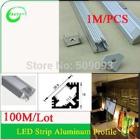 aluminum channel shapes - M meter pc V Shape Led Aluminum channel Rigid LED Bar Aluminium Profile With Frosted Cover and end caps