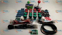 Wholesale Arcade parts Bundles kit With red green Joystick red green Illuminated buttons Microswitch player USB adaptor for Arcade