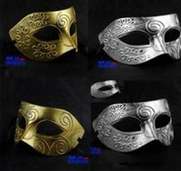 big mens halloween costumes - 50pcs Half Faces Venetian Mens Mask Mardi Gras Masquerade Halloween Christmas Costume Party MASKS M05