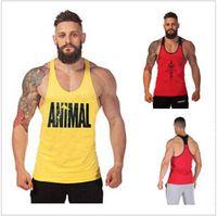 gym vests men - NEW Golds Gym Vest Mens Sleeveless Shirt Bodybuilding Stringers Tank Top Fitness Singlets Sport Undershirt Sport Clothes Cotton Tops