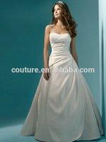 alibaba - sweetheart sleeveless alibaba empire waist top plus size Taffeta wedding dress PopularRPWD with long train curvy brides Custom Made
