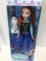 Wholesale DHL Free Ship New inch Frozen Musical Doll Anna and Princess Elsa with Olaf with music