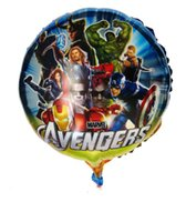 Wholesale inch round The Avengers foil balloon helium cartoon balloons JIA069