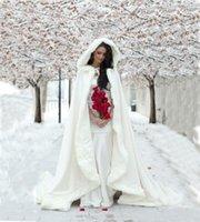 wedding capes - Warm Winter White Wedding Cloak Long Bridal Jacket Full Bridal Cape Faux Fur Wedding Cloaks