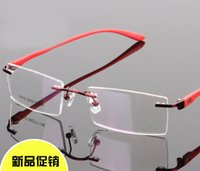 fashion eyeglasses frame - Eyeglasses Rimless glasses fashion spectacle frames Women myopia glasses optical frame glasses rimless frame men tr90 temple Unisex Frame