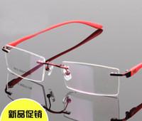 achat en gros de hommes cerclées rectangle lunettes unisexes-Lunettes cerclées lunettes spectacle de mode cadres femmes myopie lunettes monture de lunettes optiques monture percée hommes temple TR90 Unisexe