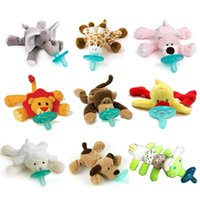 Wholesale The pacifier with animal baby lips is silicone which is safe BB sound and plush