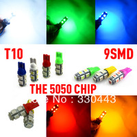 Wholesale Car Light Source T10 LED Clearance lights blue lights license plate lamp heads of external vehicle lamps