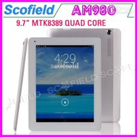 Wholesale AM980 Phablet MTK8389 Quad Core inch Android Tablet PC Bluetooth GPS G HDMI MP G RAM G ROM Android