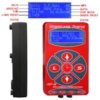 digital power station - Hurricane Brand HP Dual Tattoo Power Supply Intelligent Digital LCD Display Station Bracket For Tattoo Machine Gun