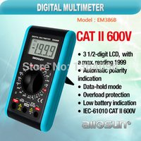 automatic testing tools - all sun EM386B Electrical test tools digital multimeter data hold mode automatic polarity indication k tester