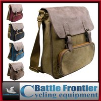 Wholesale 2015 newest unisex canvas bags leisure outdoor sport cross body single shoulder aslant message inclined bag brown black red