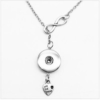 Wholesale SALE NEW sterling silver Noosa snap button Fashion jewelry pendant Necklace OEM length cm fit mm mm snaps drop shipping