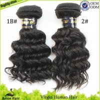 Wholesale Hair Products Queen Hair Unprocessed Brazilian Human Hair Extensions Natural Color pc pc Brazilian Deep Wave Hair