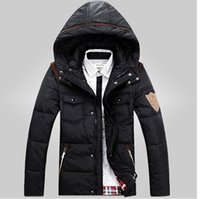 Wholesale 2015 Men s winter jacket coat jacket casual fashion new men thick down jacket color sizes cy
