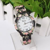 geneva watches - 2015 Fashion Printing Flower Geneva Watch for Women Geneva Floral Watch for Ladies Casual Watch Wristwatches Geneva Silicon Quartz Watch