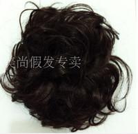 color rubber hair bands - Clip in Hair Bun Chignon Hairpieces elastic net drawstring Hair bun chignon pick clip in chignon synthetic
