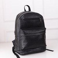 backpacks for women designer - Designer Women Leather Backpacks Black Weave School bags For Teenagers Girls Female Outdoor Hiking Bagpack Mochila Feminina