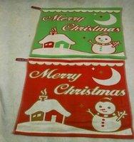 Wholesale Christmas snowman Gauze towel cm children handkerchiefs