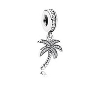 palm trees - Silver Sparking Palm Tree Charm pendant charm Original Sterling Silver Charms DIY Jewelry Fit Pandora Bracelet AC3676