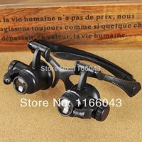 Wholesale LED Magnifier Lupe X X X X Eye Jeweler Watch Repair Magnifying Glasses New Loupe GJ Lupas A3