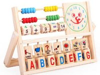baby abacus - 2015 New Early Baby Learning Educational Toys Versatile Flap Abacus Kids Wooden Toys Children Learning Toys