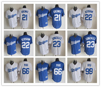 Wholesale NEW Cheap Dodgers Baseball Jerseys Greinke Embroidered Name Number Team Logo Mixed order