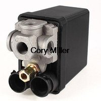 air compressor pilot valve - 240V A Port Black Cover Automatic Air Compressor Switch Pilot Valve order lt no track