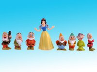 Wholesale Collection Snow White and the Seven Dwarfs Toy Figure Figurine Cake Topper Set
