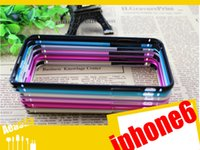 Wholesale iphone case Curved metal frame Metal Aluminum Bumper Frame Cover Case For iphone plus