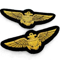 badge making set - British design custom made US Marine Corps wire India silk embroidery badges x3 cm