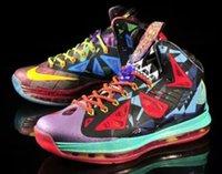 Wholesale 2015 Lebron MVP Basketball Shoes LB LBJ LB10 LB X Original Quality James Athlenic Shoes Sports Shoes Men Size