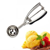 Wholesale 2016 New Useful Stainless Kitchen Ice Cream Scoop Cookies Dough Disher Spoon Potato Masher