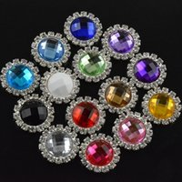 Wholesale mm Alloy Metal Buttons flat back acrylic Rhinestones Pearl Button Decoration Hair Accessories color HA0142