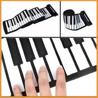 Wholesale Brand New USB Keys MIDI Roll up Electronic Piano Keyboard Silicone Flexible Professional Musical Instruments