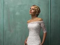 bridal fabric - 2015 Custom made wedding Bridal Bolero with short sleeves lace fabric bridal wraps jackets detachable