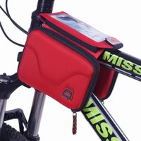 Wholesale 2015 color cycling bag Mountain bike bicycle touch screen mobile phone bag eva saddle bags for men women RF40