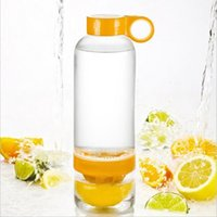 Wholesale Lemon Cup Juice Source Vitality Water Bottle Fruit Cup Drinkware for outdoor fun sports