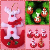 Wholesale Christmas Tree Christmas Gifts Xmas Decorations Snowman Santa Milu Christmas Hanging Baubles XMAS Tree Ornament Christmas Decor Suppliers