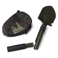 Wholesale Outdoor survival camping multifunctional folding shovel survival kit Hot sales With compass