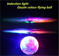 toy airplane - Induction lights light aircraft flash induction fans infrared remote control remote sensing airplanes flying ball toys