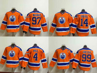 best halls - Newest Youth Edmonton Oilers Gretzky Mcdavid eberle hall Orange New Kid Ice Hockey Jerseys Best Quality Low Price
