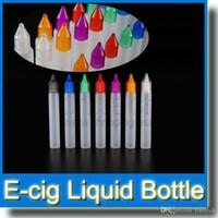 al por mayor compra de tapas de botella-15ml botella de unicornio E botellas líquidas con tapas de colores y cuentagotas largo plástica botella de estilo pluma vacío comprar 1000 obtener 100 libre