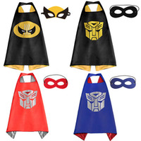 Wholesale Party Supplies Superhero Capes with mask Double Side Superman Batman Spiderman Ninja Turtle for kids Halloween Cosplay Costume