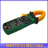 Cheap Wholesale-free shipping Digital Multimeter Mastech MS2108A 4000 AC DC Current Clamp Meter backlight Frq Cap CATIII vs FLUKE hol