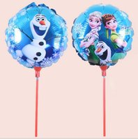 Wholesale 100pcs Cartoon Frozen balloon Anna Elsa Olaf Sets inch bubble hydrogen balloon balloons party decoration foil balloons BFH1004