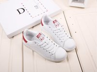 Wholesale adidas Originals Superstar Women s shoes sneakers man shoes women shoes Classic couples skate shoes white Black